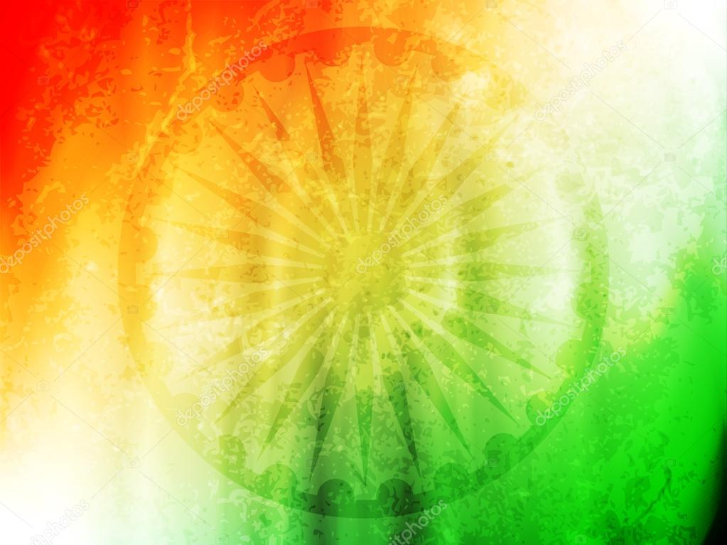 Creative Watercolor Indian Flag Background For Indian: Creative Indian Flag Theme Design Background