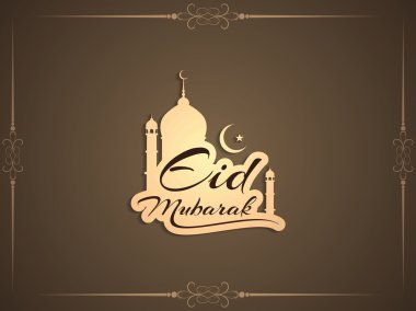 Eid Mubarak religious elegant background design.