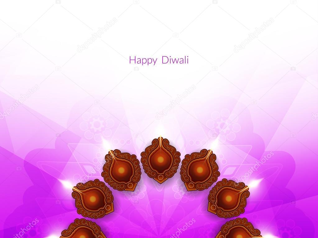 Elegant card design of traditional Indian festival Diwali