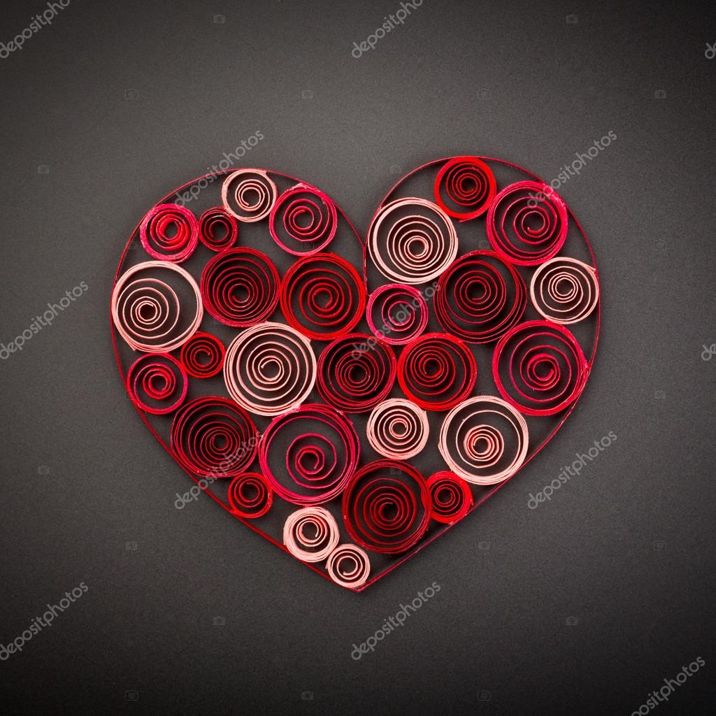 Heart Of Paper Quilling For Valentine S Day Stock Photo C Laputin