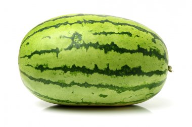 Whole Watermelon on white