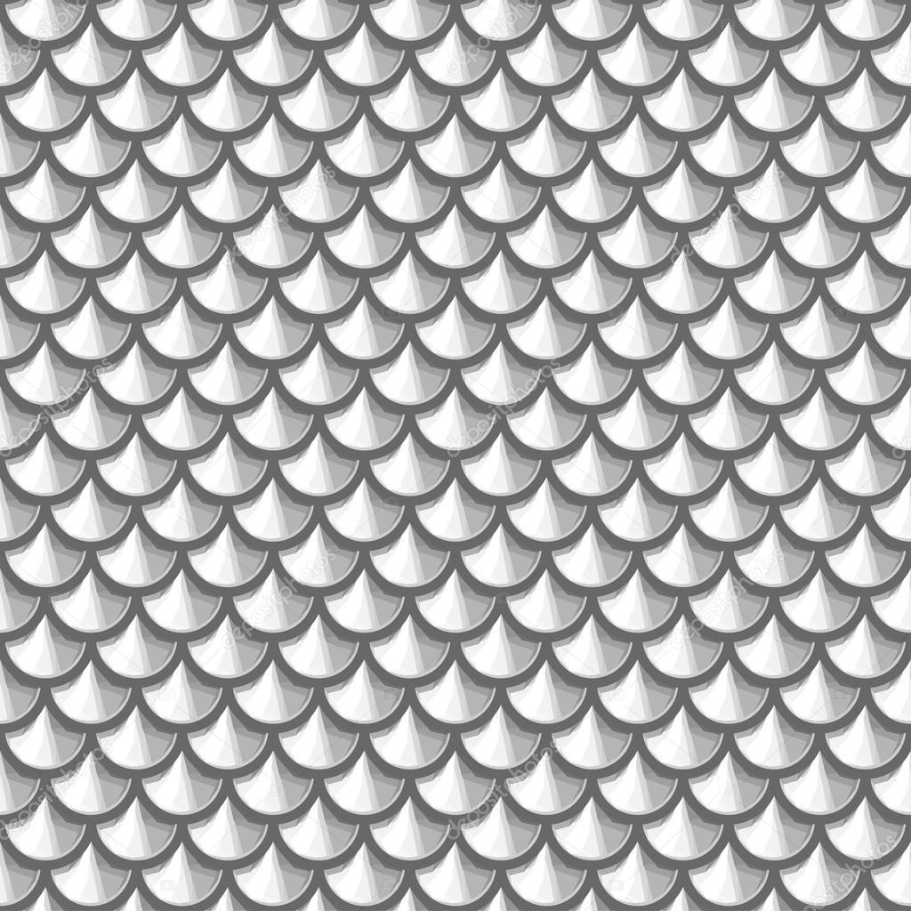 escala de grises ro pez escamas u vector de stock
