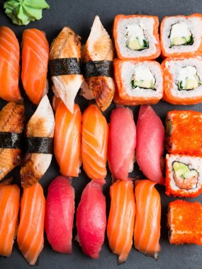 Various kinds of sushi