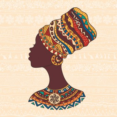 African woman in a turban head