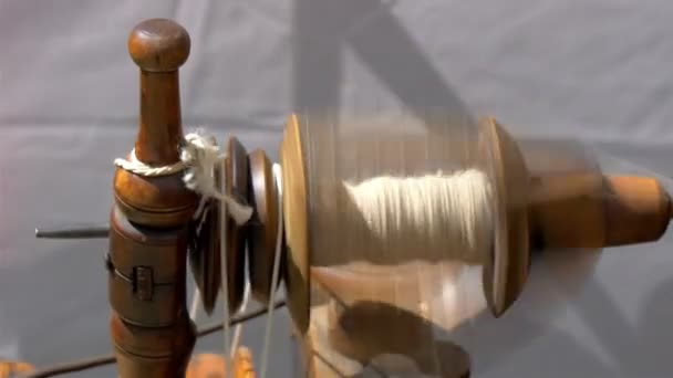 An old spinning wheel fastly turning around GH4