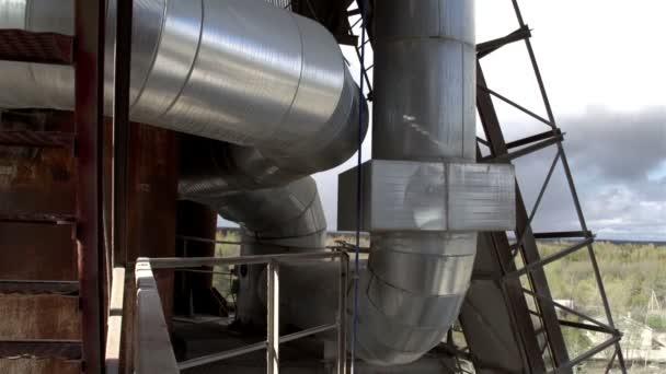 a gyár nagy acélcsövek