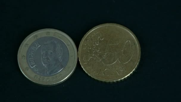 Two 50 cent Spain Euro coin front and back detail
