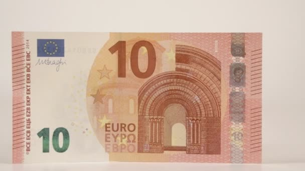 Zooming in of the 10 Euro paper bill