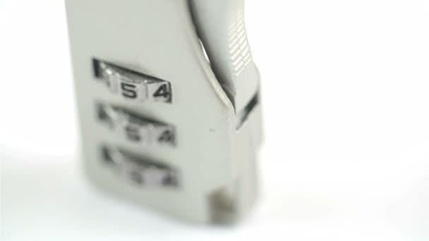Stojící zámek kufru s 654 čísly