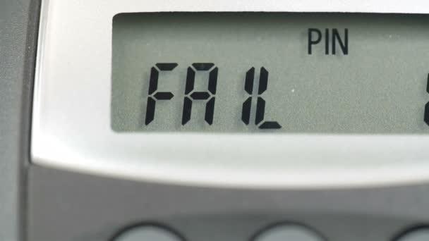FAIL 1 notice on the calculator screen