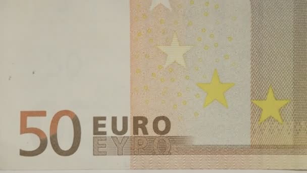 Back detail of a 50 Euro bill