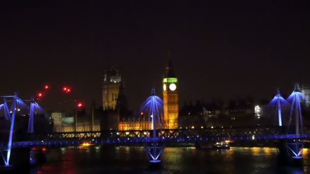 Big Ben with the lights at night