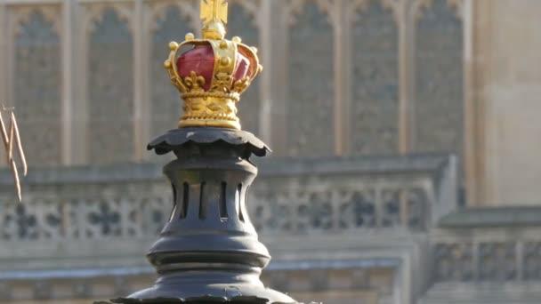 Golden crown in Big Ben clock in London
