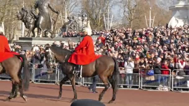 General view of the queen guard on parade