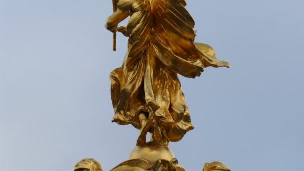 Golden angel statue