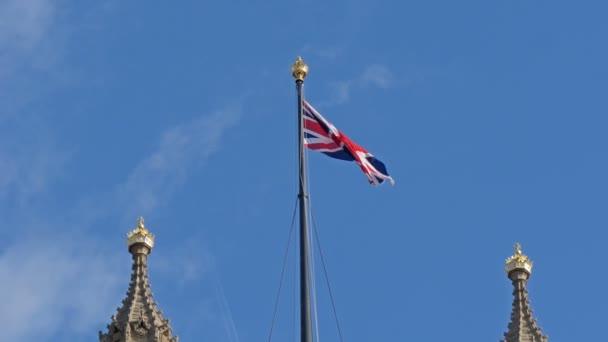England flag waving on the top
