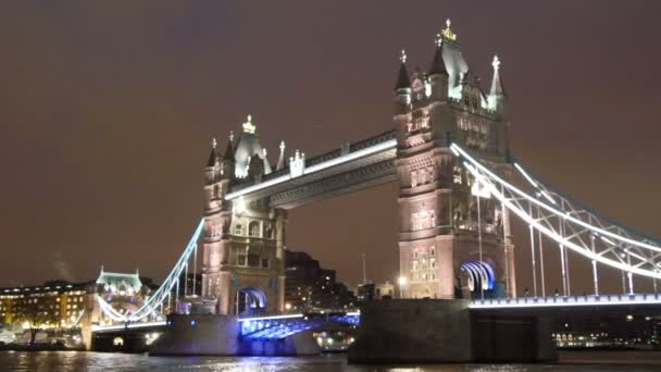 white lighted Tower Bridge in London