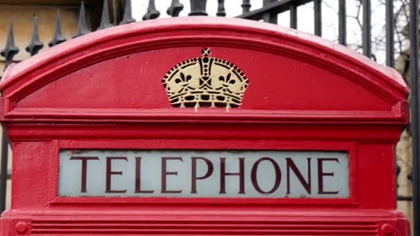 The telephone booth on the front