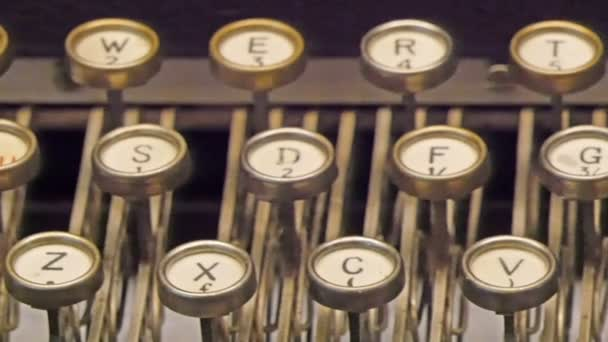 old model of typewriter with keys