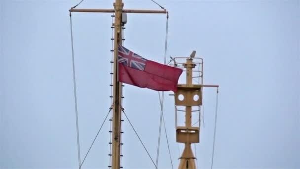 flag of England on ship