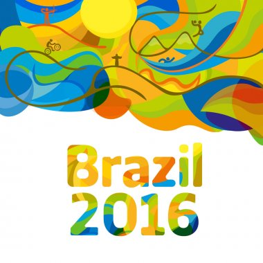 Rio 2016 abstract colorful background