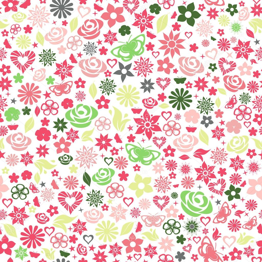 Seamless pattern of flowers