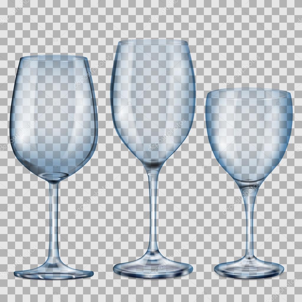 Copas de cristal vac o azul transparente para vino for Copas de cristal