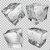 Photo Transparent ice cubes
