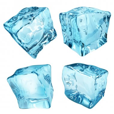 Opaque ice cubes