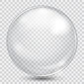 Sfera di vetro trasparente bianco grande