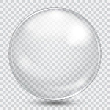 Big white transparent glass sphere