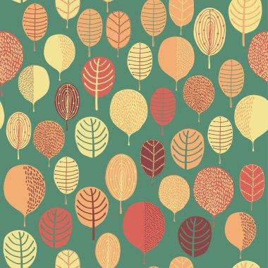 Seamless leaf pattern