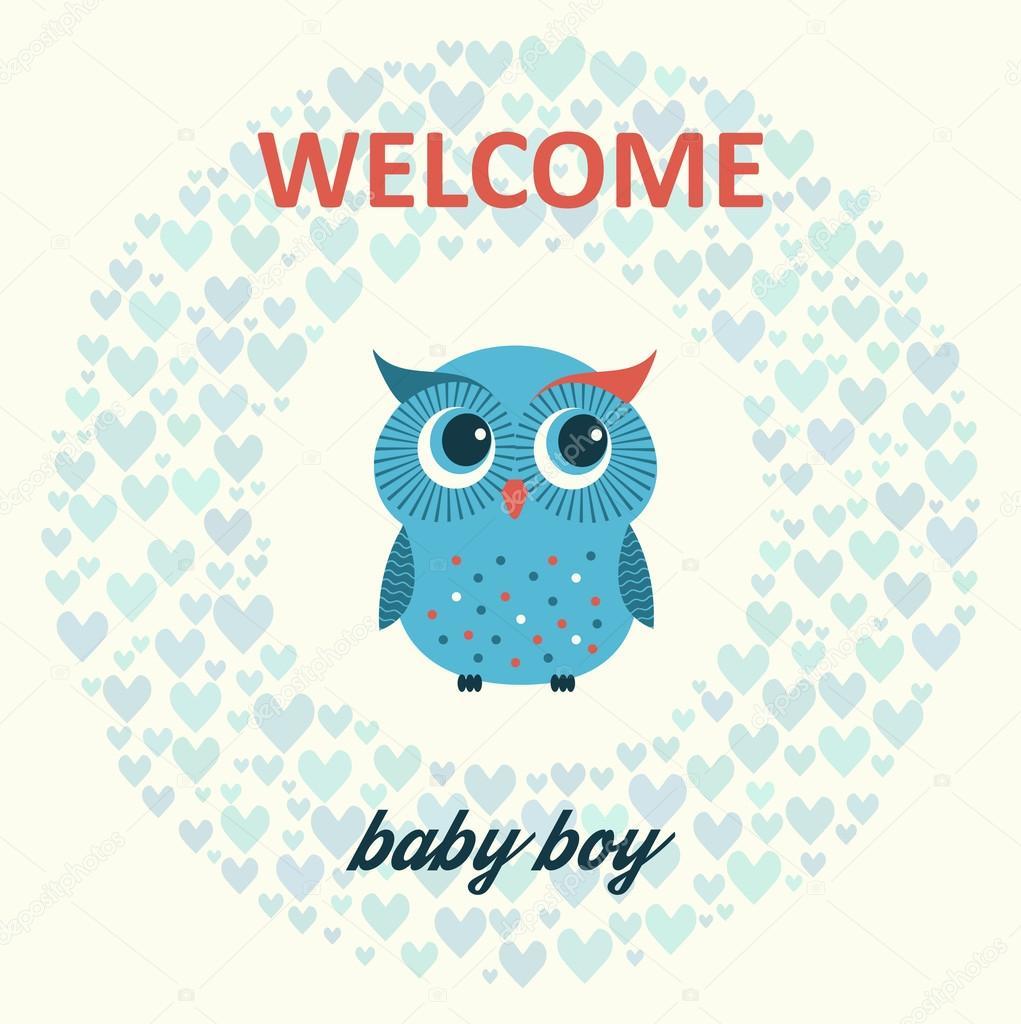 willkommen baby boy — Stockvektor © ajjjgul #55225365