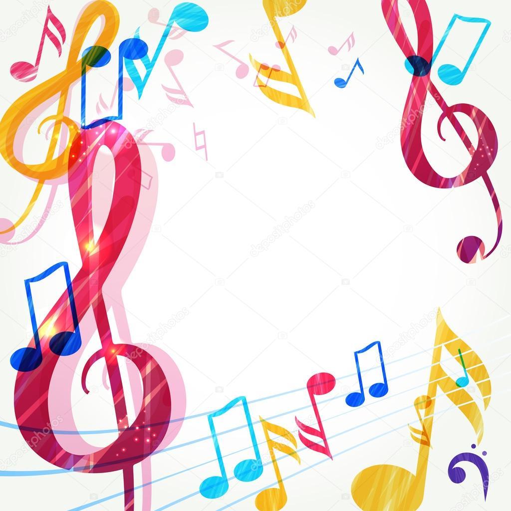 various music notes background stock vector ajjjgul 55225557 rh depositphotos com musical notes background vector Music Notes with Transparent Background