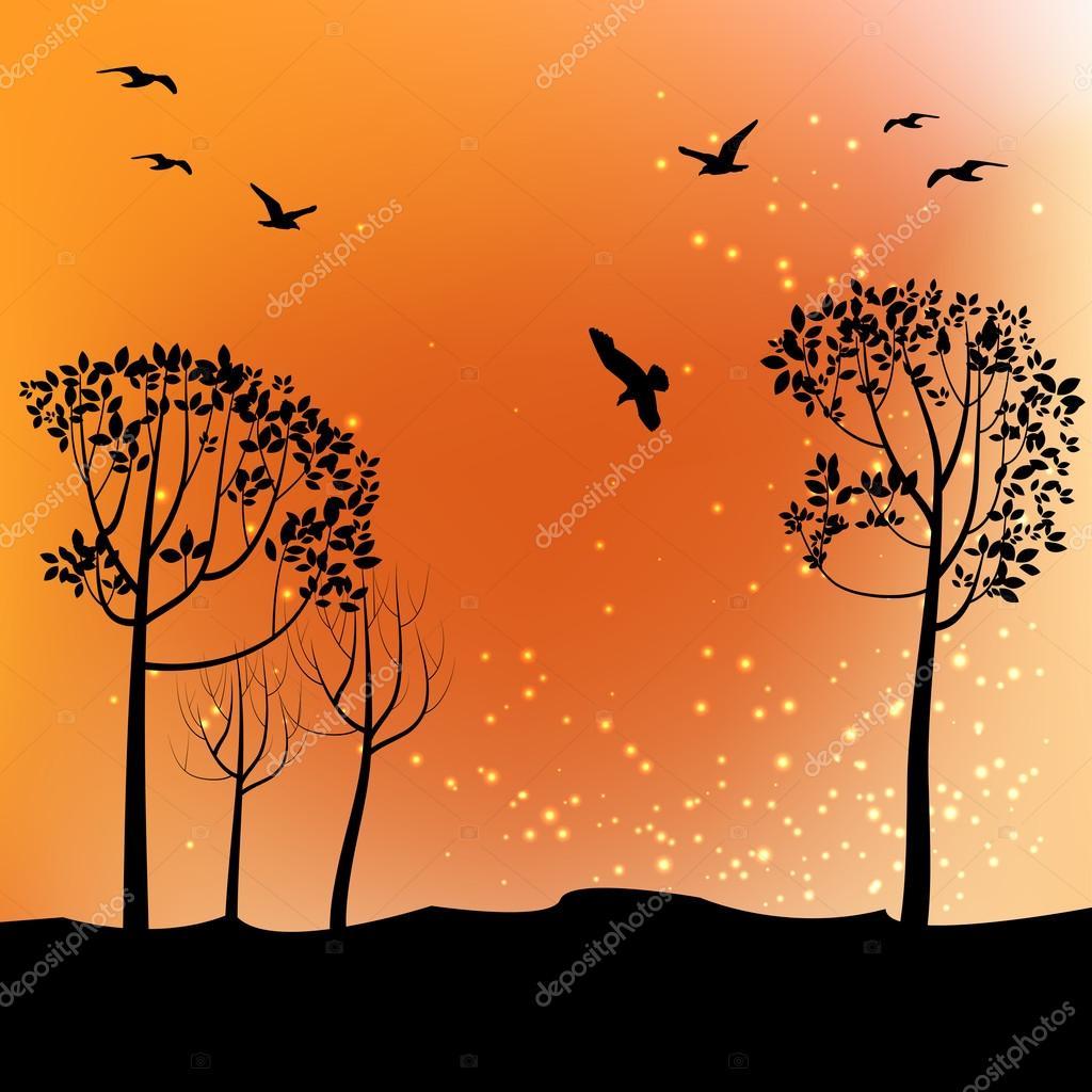 POEMAS SIDERALES ( Sol, Luna, Estrellas, Tierra, Naturaleza, Galaxias...) - Página 19 Depositphotos_55225683-stock-illustration-autumn-landscape-with-trees-and