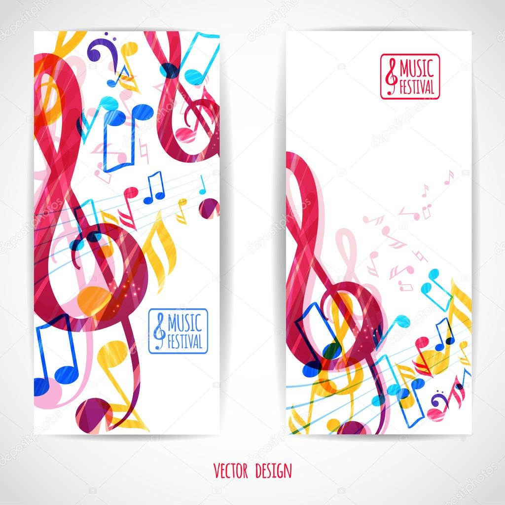 Two music banners