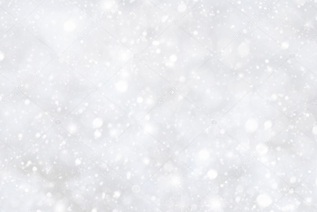 White Christmas Background.White Christmas Background With Bokeh And Snowflakes Stock