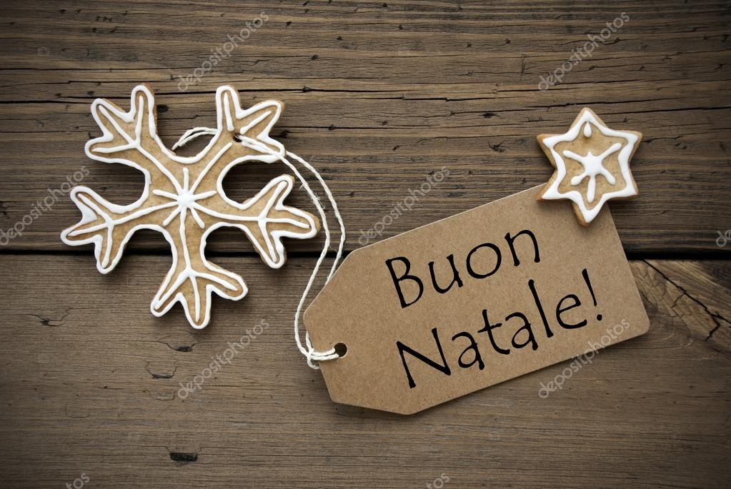 Buon Natale Que Significa.Auguri Di Natale Italiana Con Pane Di Zenzero Foto Stock C Nelosa