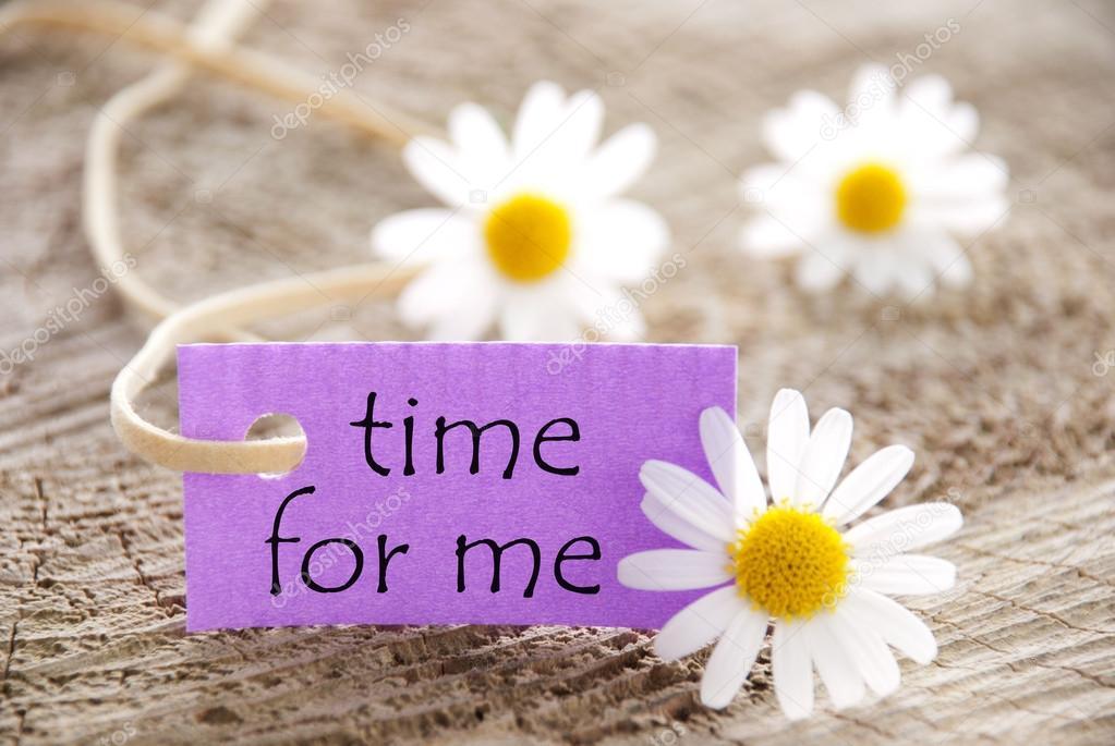 zeit für mich sprüche Lila Label mit Leben Spruch Zeit für mich und Marguerite Blüten  zeit für mich sprüche