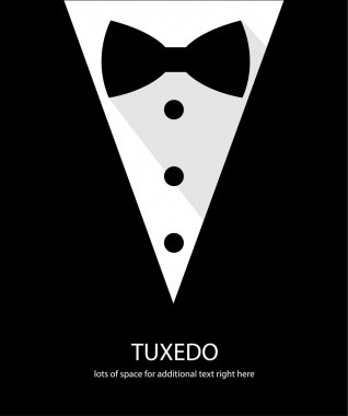 Black and white bow tie tuxedo