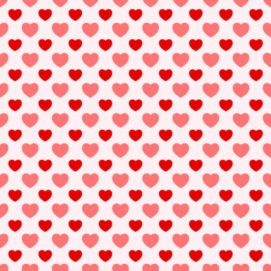 Pink and red nice Valentine seamless hearts background clip art vector