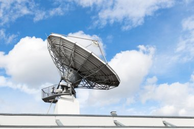 Satellite communication parabolic dish radar antenna or astronom
