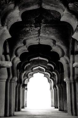 Hampi, India. In black and white.