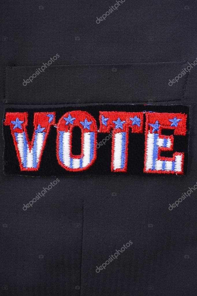 Estados El Del En Voto Traje Unidos Insignia Bolsillo OxqOSwzP7
