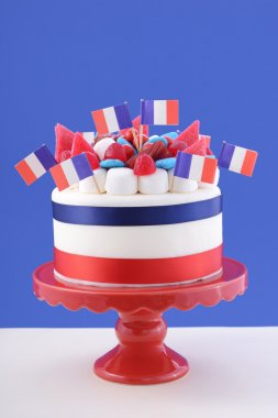 Happy Bastille Day celebration cake
