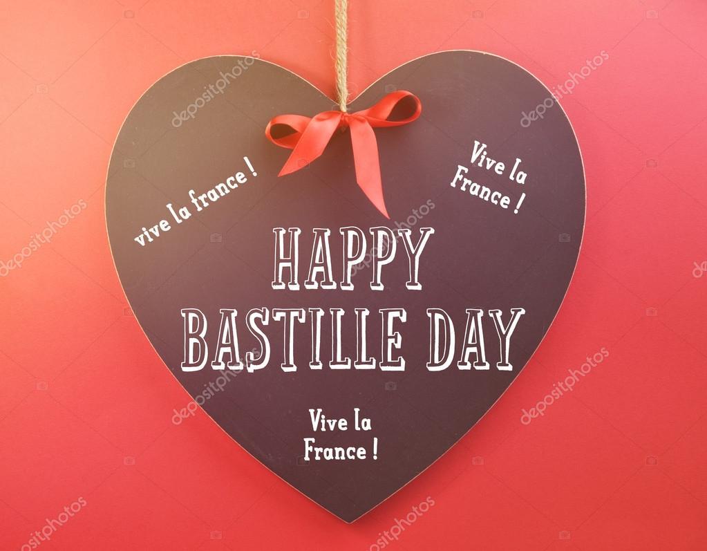 Happy bastille day greeting on heart shape blackboard stock photo happy bastille day greeting on heart shape blackboard stock photo m4hsunfo