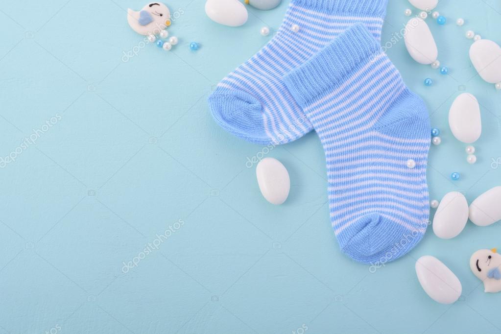 Blue Baby Shower Nursery Background Stock Photo C Amarosy 119270148