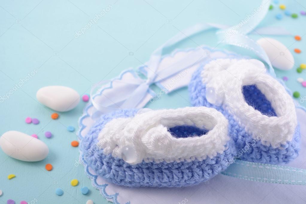 Blue Baby Shower Nursery Background Stock Photo C Amarosy 119270898