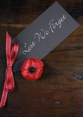 Les We Forget Poppy for Remembrance Day