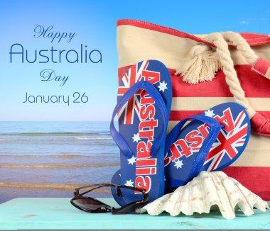 Australia Day beach scene